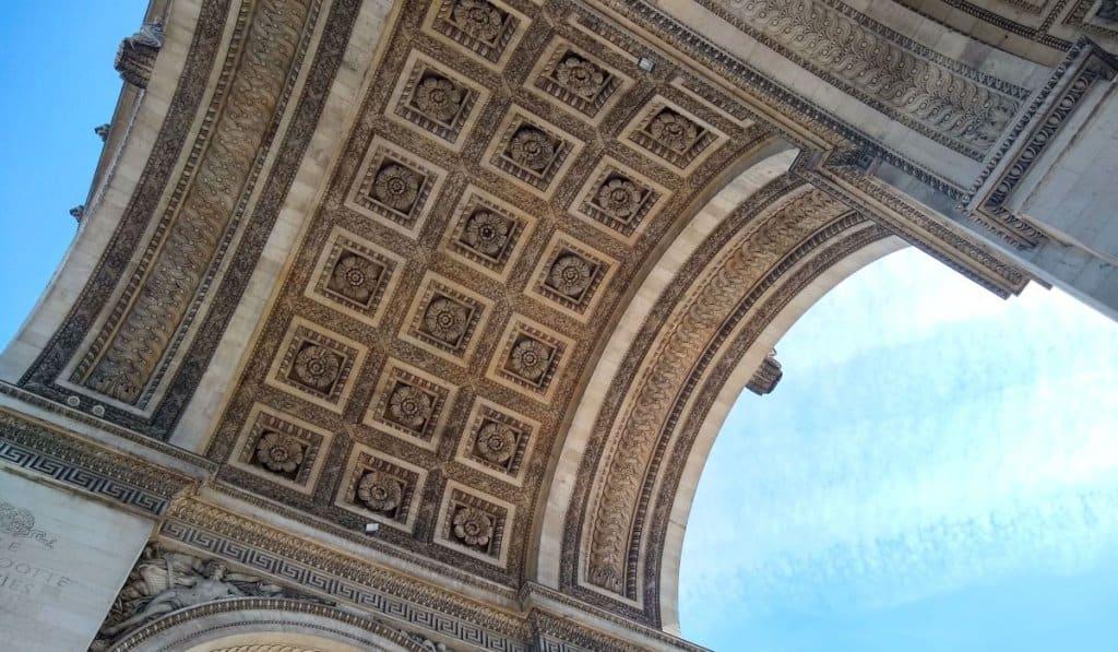 Underside of the Arc de Triomphe