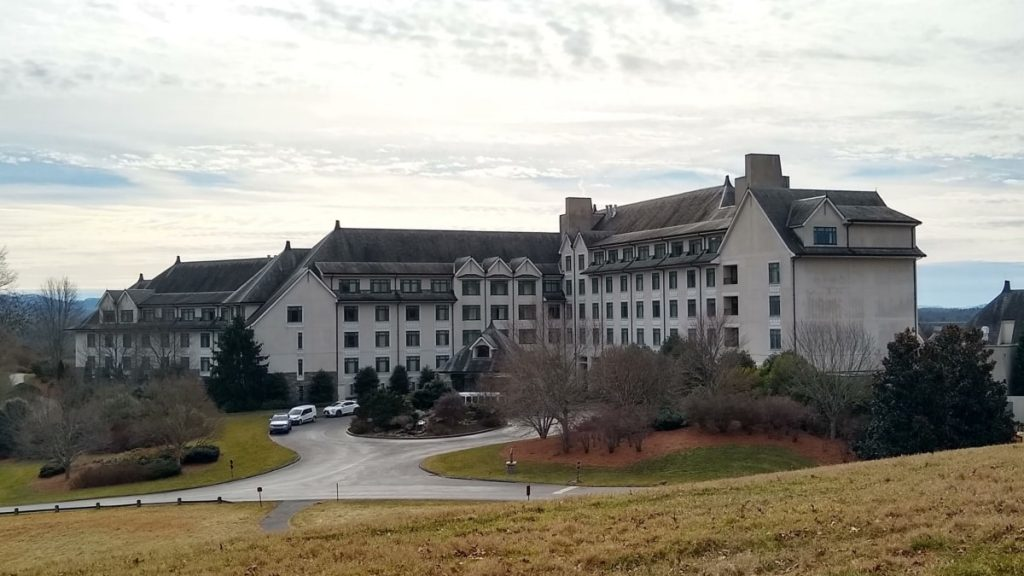 View of The Inn on Biltmore Estate in winter